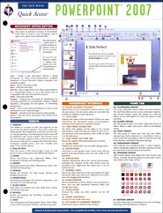 Power Point 2007 - Quick Access Reference Chart