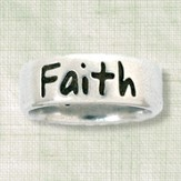 Faith Ring, Matthew 17:20, Ladies Size Large 7-8