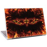 Cross and Flames Laptop Skin