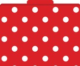 Red & White Dots File Folders