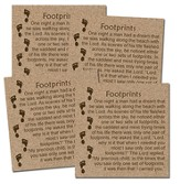 Footprints Coasters, Box of 4