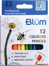 12 Colored Triangular Shaped Pencils (Junior Series)