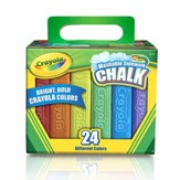 Crayola, Washable Sidewalk Chalk Pack, 24 Pieces