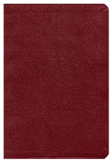 NKJV Giant Print Reference Bible, Burgundy Imitation Leather, Thumb-Indexed