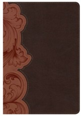 KJV Personal Size Study Bible, Dark Umber and Sienna LeatherTouch, Thumb-Indexed