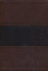 NKJV Super Giant Print Reference Bible, Brown and Chocolate LeatherTouch, Thumb-Indexed