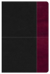 NKJV Super Giant Print Reference Bible, Black and Burgundy LeatherTouch