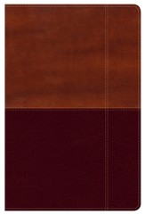 NKJV Super Giant Print Reference Bible, Brown and Tan LeatherTouch