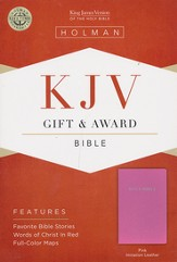 KJV Gift & Award Bible, Pink Imitation Leather