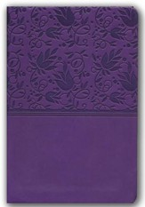 KJV Compact Ultrathin Bible, Purple Leathertouch