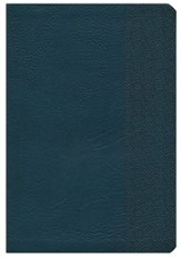 NKJV Large Print UltraThin Reference Bible, Slate Blue LeatherTouch