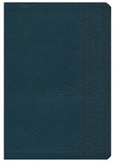 NKJV Large Print UltraThin Reference Bible, Slate Blue LeatherTouch, Thumb-Indexed