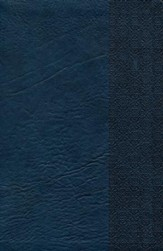 NKJV UltraThin Reference Bible, Slate Blue LeatherTouch, Thumb-Indexed