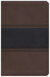 NKJV UltraThin Reference Bible, Brown and Chocolate LeatherTouch