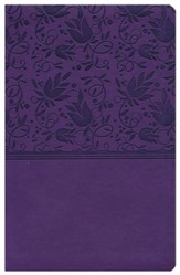 NKJV UltraThin Reference Bible, Purple LeatherTouch, Thumb-Indexed - Imperfectly Imprinted Bibles