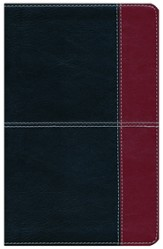 NKJV UltraThin Reference Bible, Black and Burgundy LeatherTouch