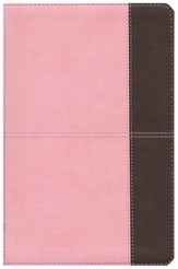NKJV UltraThin Reference Bible, Pink and Brown LeatherTouch
