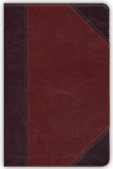 NKJV UltraThin Reference Bible, Classic Mahogany LeatherTouch, Thumb-Indexed