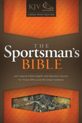 KJV Sportsman's Bible, Large Print Edition, MothWing Camouflage Bonded Leather - Imperfectly Imprinted Bibles