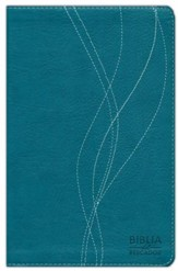 Biblia del Pescador RVR 1960, Símil Piel, Azul Aqua  (RVR 1960 Fishers of Men Bible, Deep Aqua Imitation Leather)