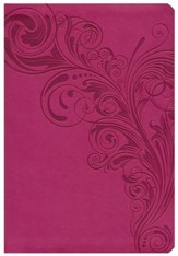 HCSB Super Giant Print Reference Bible, Pink LeatherTouch