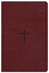 HCSB Giant Print Reference Bible, Brown LeatherTouch, Thumb-Indexed
