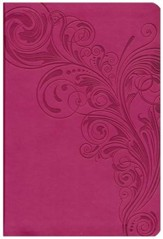 HCSB Giant Print Reference Bible, Pink LeatherTouch, Thumb-Indexed