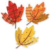 Autumn Leaves 6 Designer Cut-Outs, 3 patterns