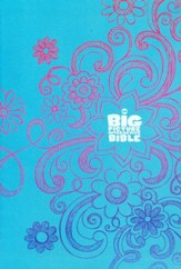 HCSB The Big Picture Interactive Bible for Kids,  Doodles LeatherTouch - Imperfectly Imprinted Bibles
