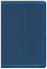 HCSB Super Giant-Print Reference Bible--soft leather-look, cobalt blue
