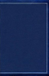 KJV Large-Print Personal Size Reference Bible--soft leather-look, cobalt blue