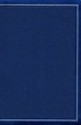 KJV Large-Print Personal Size Reference Bible--soft leather-look, cobalt blue (indexed)