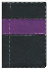 NIV Compact Thinline Bible, Black/Purple Duo-Tone  1984