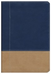 NIV Compact Thinline, Beige/Navy Duo-Tone  1984 - Imperfectly Imprinted Bibles