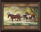 Life Is A Journey, Horses Framed Art