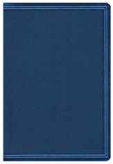NKJV Large-Print Compact Reference Bible--soft leather-look, cobalt blue