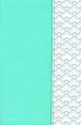 NKJV Ultrathin Reference Bible--soft leather-look, mint green