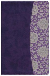 The Study Bible for Women, NKJV Edition, Plum and Lilac Leathertouch - Imperfectly Imprinted Bibles