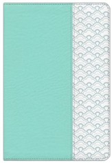HCSB Large-Print Ultrathin Reference Bible--soft leather-look, mint green
