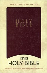 NIV Gift and Award Bible, Leather-Look, Burgundy - Slightly Imperfect