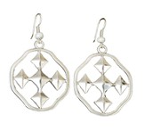 My Shield Beaded Dangle Earring, Pearl, Small