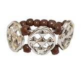My Shield Beaded Ring, Brown, One Size Fits Most