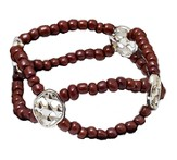My Shield Beaded Bracelet, Brown