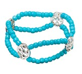 My Shield Beaded Bracelet, Turquoise