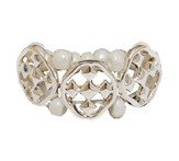 My Shield Beaded Ring, Pearl, One Size Fits Most