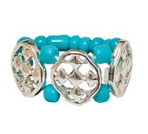 My Shield Beaded Ring, Turquoise, One Size Fits Most