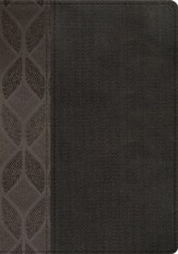 RVR 1960 Biblia Compacta Letra Grande geometrico/twill gris simil piel, RVR 1960 Large Print Compact, Geometric Twill Charcoal LeatherTouch
