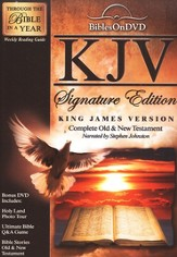 KJV Signature Edition Bible on DVD  - Slightly Imperfect