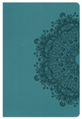 KJV Large Print Personal Size Reference Bible, Teal LeatherTouch - Imperfectly Imprinted Bibles