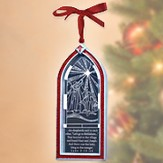 Shepherds Christmas Story Window Ornament